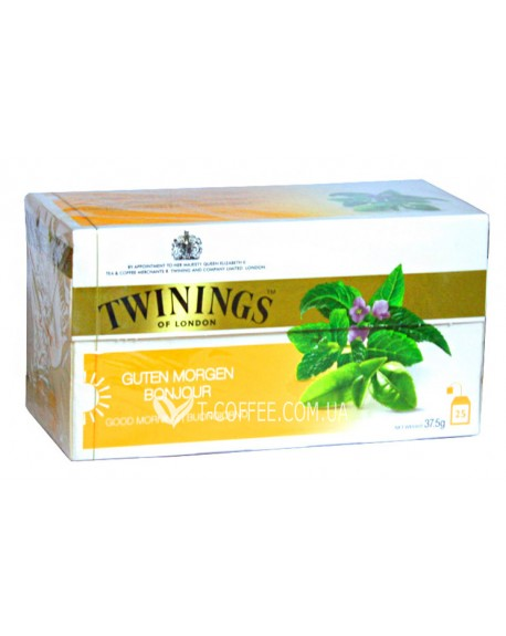 Чай TWININGS Guten Morgen Bonjour Вербена и Мята  25 х 2 г