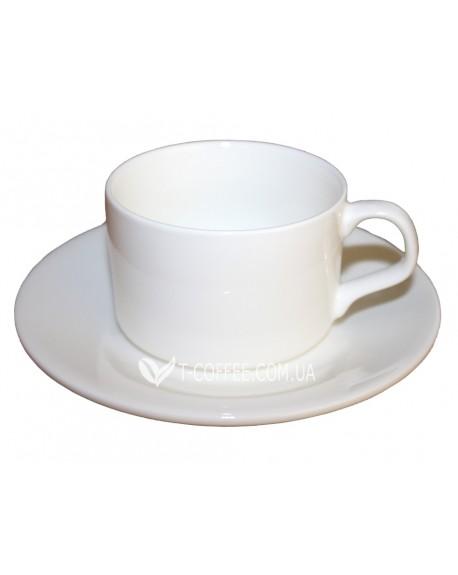 Чашка с блюдцем Wilmax фарфоровая 160 мл