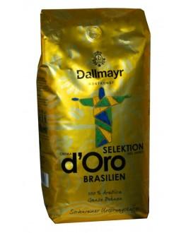 Кофе DALLMAYR Crema d'Oro Selektion Des Jahres Brasilien зерновой 1 кг (4008167035503)