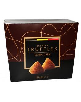 Цукерки BELGIAN TRUFFLES Extra Dark 150 г в коробці (5420066370032)