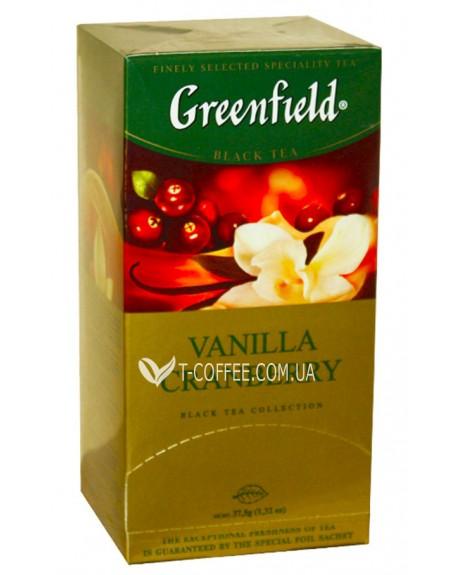 Чай Greenfield Vanilla Cranberry Ваниль Клюква 25 х 1,5 г (4823096802404)