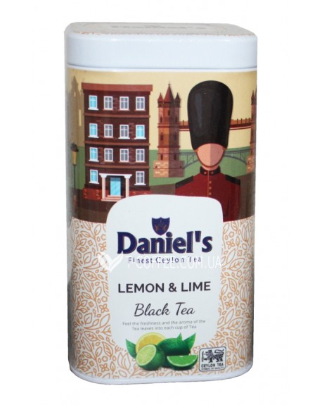 Чай Daniel's Lemon Lime Black Tea 100 г ж/б (4796017690551)