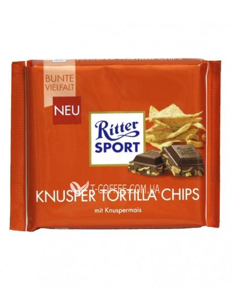 Шоколад Ritter Sport Knusper Tortilla Chips Чипсы Тортилья 100 г