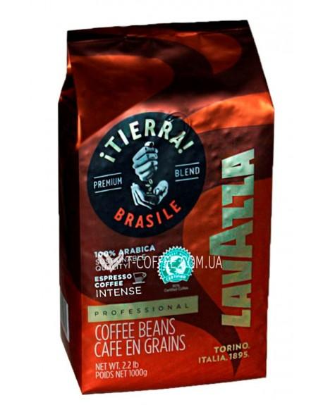 Кофе Lavazza Tierra Brazil 100% Arabica Intense 1 кг зерновой