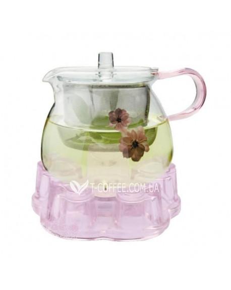 Чайник стеклянный Цветок Сакуры 600 мл
