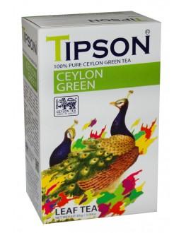 Чай TIPSON Ceylon Green Цейлон Зелений 85 г к/п (4792252931381)