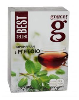 Чай GRACE! Чорний з М'ятою - Бестселер 90 г (5060207697811)