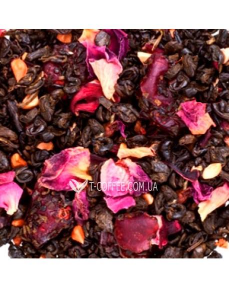 Гранатовый Цветок зеленый ароматизированный чай Країна Чаювання 100 г ф/п