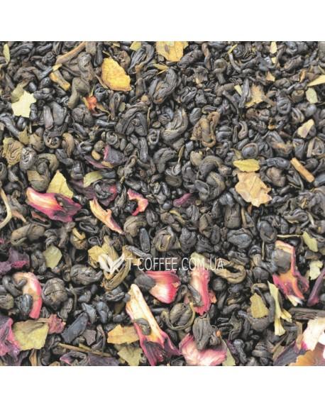 Земляника со Сливками II зеленый ароматизированный чай Світ чаю