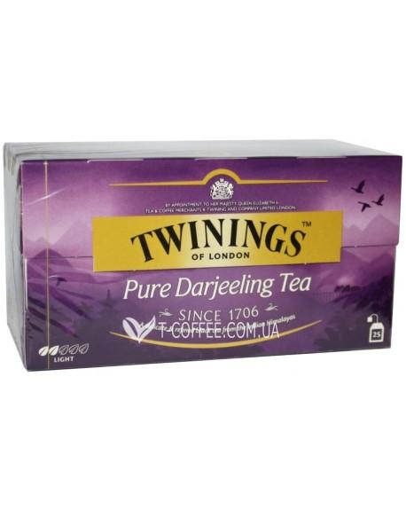 Чай TWININGS Pure Darjeeling Tea Дарджилинг 25 х 2 г (070177078805)