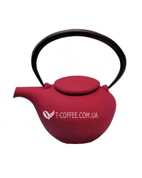 Чайник чугунный Гонконг красный 800 мл