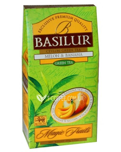 Чай BASILUR Melon Banana Дыня Банан - Волшебные Фрукты 100 г к/п (4792252933569)