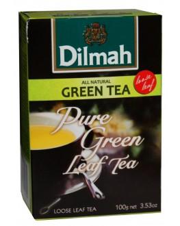 Чай DILMAH Pure Green Tea Зелений 100 г (9312631124354)