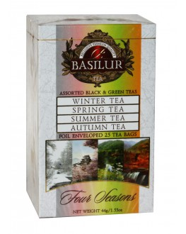 Чай BASILUR Assorted Four Seasons Асорті - Пори Року 25 х 2 г + 1,5 г (4792252916227)