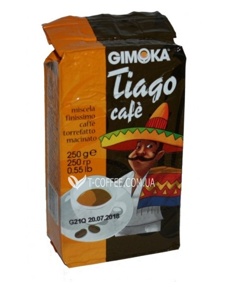 Кофе GIMOKA Tiago Cafe молотый 250 г (8003012000367)