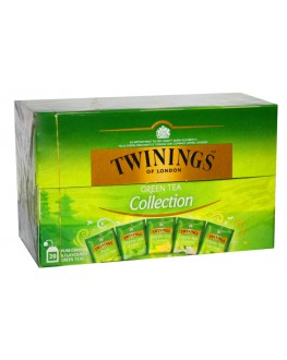 Чай TWININGS Collection Green Tea Асорті Зелений Чай 20 х 1,5 г (070177174743)