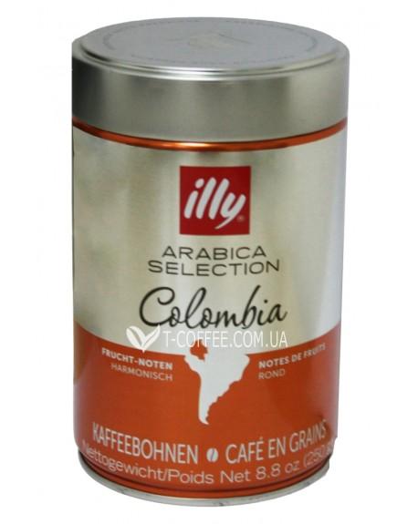 Кофе illy Colombia Arabica Selection зерновой 250 г ж/б (8003753104904)