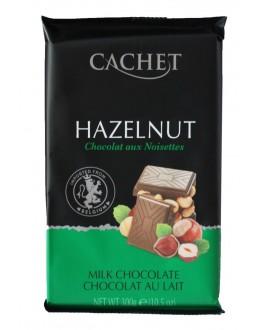 Шоколад CACHET Milk Chocolate Hazelnut Молочний Фундук 300 г (5412956216483)