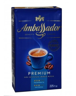 Кава AMBASSADOR Premium мелена 225 г (8720254065205)