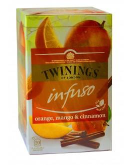Чай TWININGS Infuso Orange Mango Cinnamon Апельсин Манго Кориця 20 х 2 г (070177177720)