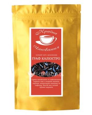 Граф Калиостро черный ароматизированный чай Країна Чаювання 100 г ф/п