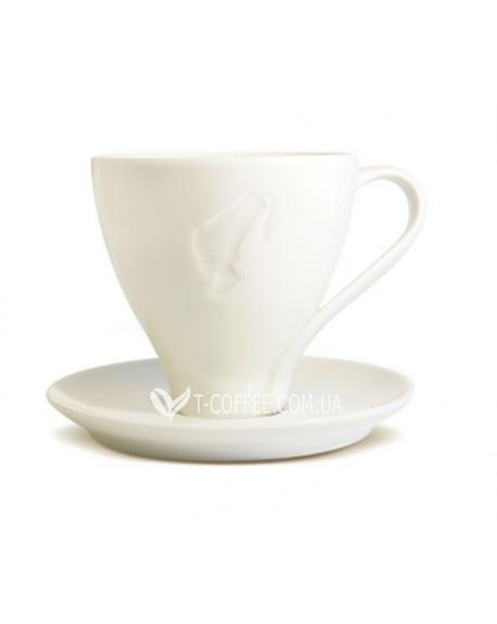 Чашка с блюдцем Julius Meinl Джамбо фарфоровая белая 250 мл