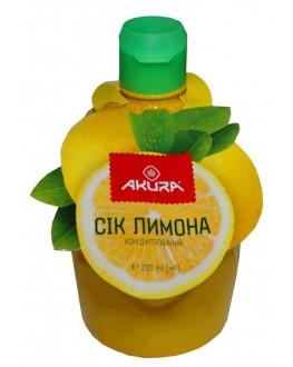 Сок лимона AKURA концентрированный 220 мл п/б (5202737700009)