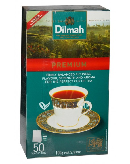 Чай Dilmah Premium Премиум 50 x 2 г (931263122626)