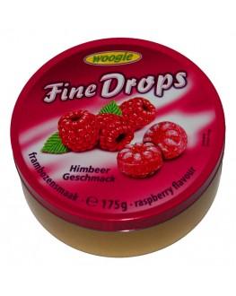 Леденцы FINE DROPS Himbeer Geschmack Малина 175 г (9002859093159)