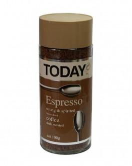 Кофе TODAY Espresso растворимый 95 г ст. б. (5014776102047)