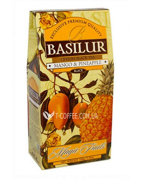 Чай BASILUR Mango Pineapple Манго Ананас - Волшебные Фрукты 100 г к/п (4792252918108)