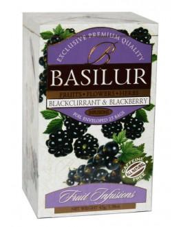 Чай BASILUR Blackcurrant Blackberry Чорна Смородина Ожина - Фруктові Коктейлі 25 х 1,8 г (4792252933286)