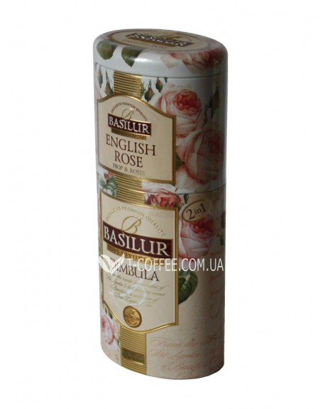 Чай BASILUR English Rose Dimbula Английская Роза Димбула - Цветы и Фрукты Цейлона 125 г ж/б (4792252201217)