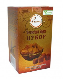 Сахар тростниковый коричневый нерафинированный кусковой Demerara 300 г