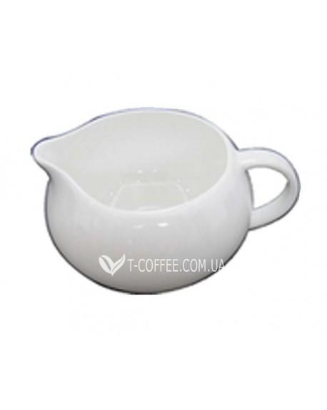 Молочник фарфоровый белый 220 мл