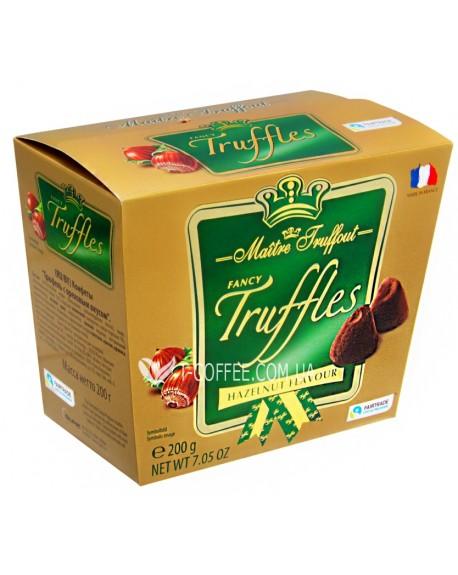 Конфеты Maitre Truffout Huzelnut Flavour Трюфель Лесной Орех 200 г