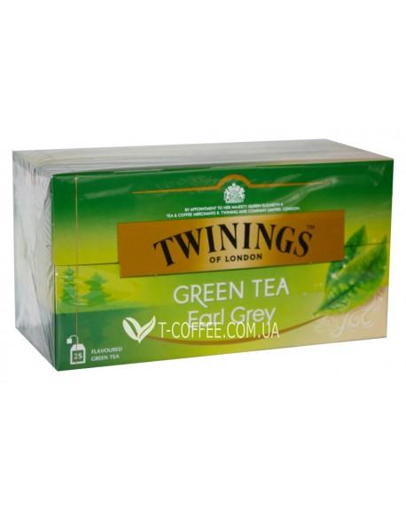 Чай TWININGS Green Tea Earl Grey Зеленый Эрл Грей 25 х 1,6 г (070177173173)