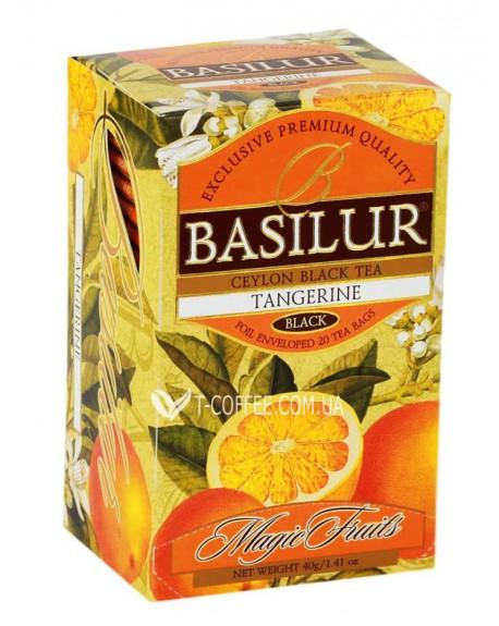 Чай BASILUR Tangerine Мандарин - Волшебные Фрукты 20 х 2 г (4792252920873)
