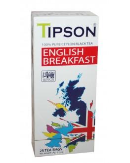 Чай TIPSON English Breakfast Англійський Сніданок 25 х 2 г (4792252002401)