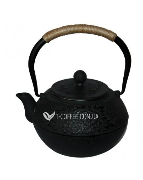 Чайник чугунный Пион 1300 мл черный