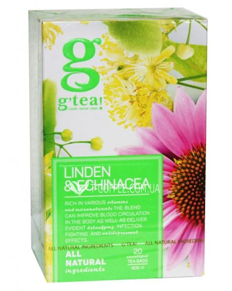 Чай GRACE! Green Tea Linden Echinacea Зеленый чай Липа Эхинацея - The Bright Collection 20 х 2 г (5060207695879)