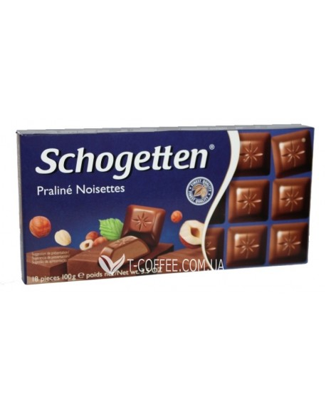Шоколад Schogetten Praline Noiseettes Пралине Фундук 100 г (4000415851705)