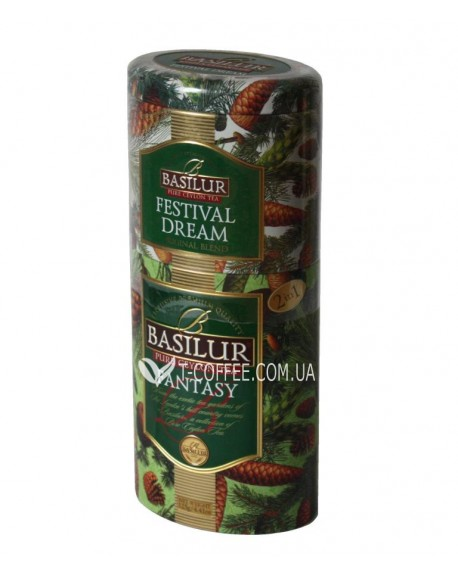 Чай BASILUR Festival Dream Fantasy Праздничная Мечта Фантазия - Цветы и Фрукты Цейлона 125 г ж/б
