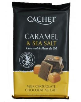 Шоколад CACHET Milk Chocolate Caramel Sea Salt Молочний Карамель Сіль 300 г (5412956216469)