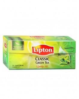 Чай LIPTON Classic Green Tea Зелений 25 x 2 г (4823084200793)