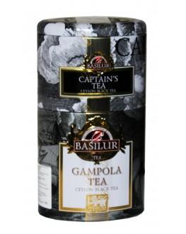Чай BASILUR Captain's Tea Gampola Капітанський Гампола - Квіти і Фрукти Цейлона 100 г ж/б (4792252940680)
