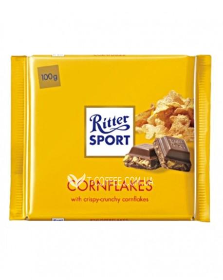 Шоколад Ritter Sport Cornflakes Кукурузные Хлопья 100 г (4000417011008)