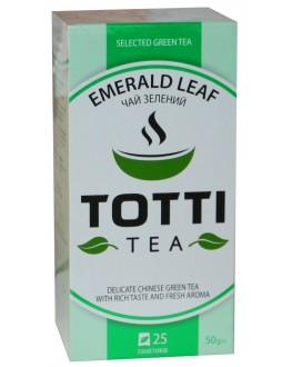 Чай TOTTI Emerald Leaf Изумрудный Лист 25 x 2 г (8719189233223)