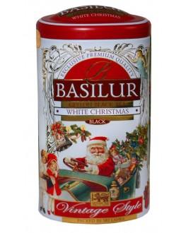 Чай BASILUR White Christmas Снігове Різдво - Вінтаж 100 г ж/б (4792252935303)