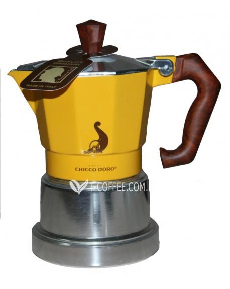 Кофеварка гейзерная Chicco d'Oro 2 чашки желтая